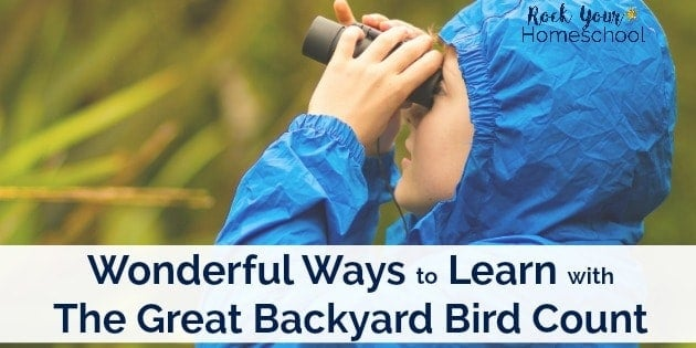 The Great Backyard Bird Count occurs every February. Here are some wonderful ways to get started with this learning fun opportunity.