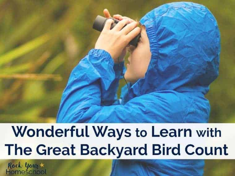 Open the doors to a new hobby for your kids & family with bird watching! This activity encourages appreciation & learning about the birds & the environment. Here are some wonderful ways to learn with The Great Backyard Bird Count that annually occurs in February.