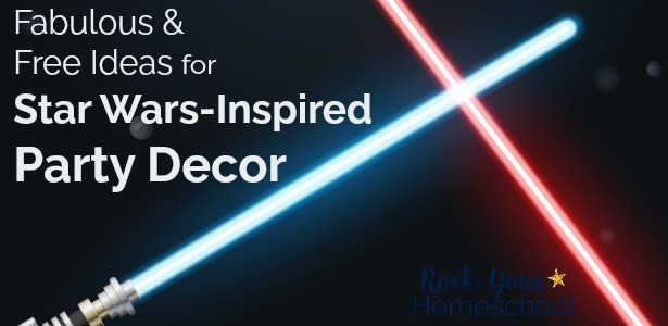 Get fabulous & free ideas for Star Wars-Inspired party decor.
