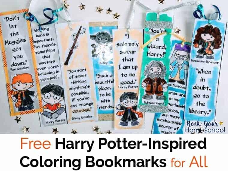 image relating to Printable Harry Potter Bookmarks called Absolutely free Harry Potter-Motivated Coloring Bookmarks for All - Rock