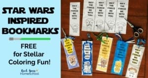 These free Star Wars-Inspired bookmarks are excellent ways to enjoy stellar coloring fun with kids.