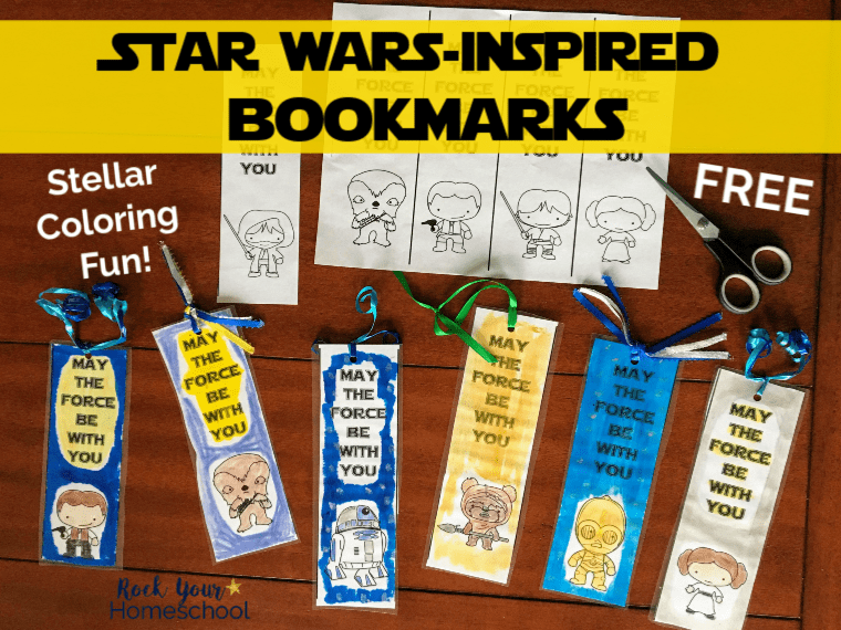 image regarding Star Wars Bookmarks Printable referred to as No cost Star Wars-Encouraged Coloring Bookmarks for Young children - Rock