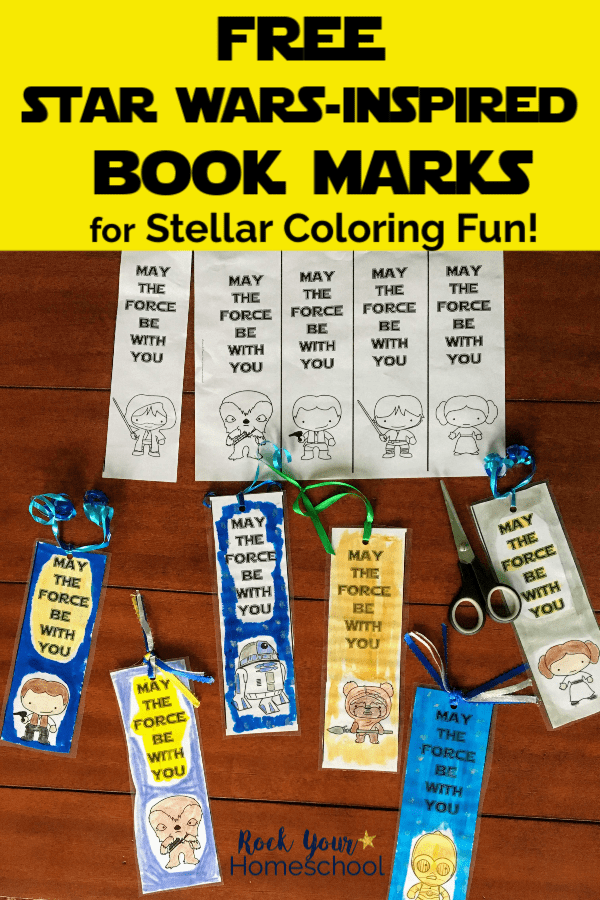 photo about Star Wars Bookmarks Printable named No cost Star Wars-Encouraged Coloring Bookmarks for Youngsters - Rock
