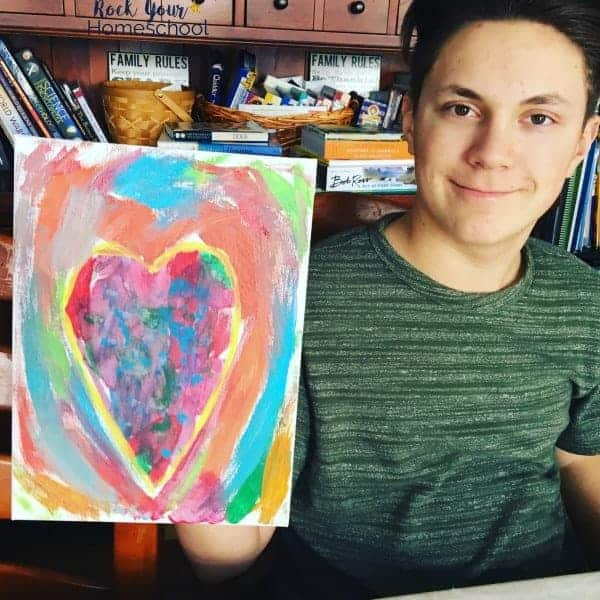 Your kids can learn about & make abstract art with these homeschool art classes.