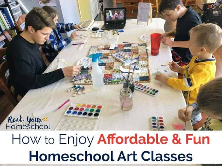 You CAN enjoy affordable & fun homeschool art classes with your kids using Masterpiece Society Studio membership.