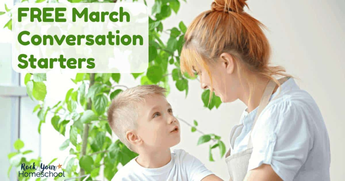 These free printable prompts of March conversation starters are excellent ways to enjoy fun chats with kids.