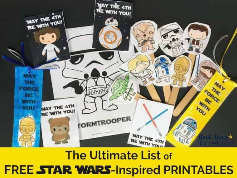 Have some stellar fun with these free Star Wars-Inspired printables.