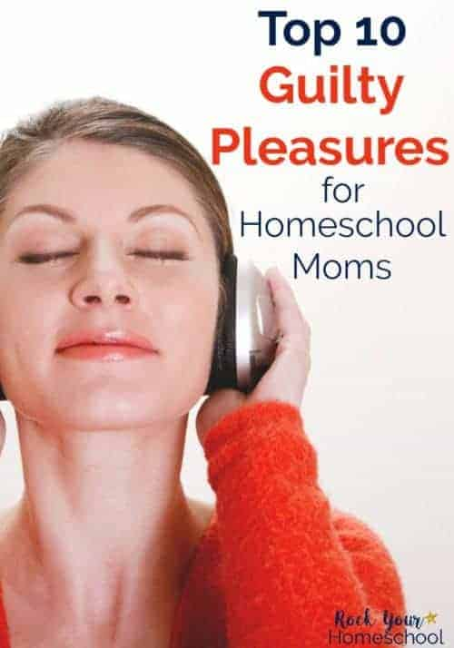 Woman with eyes closed and smiling listening to music through earphones