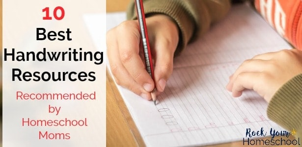 Check out these 10 best handwriting resources recommended by homeschool moms.