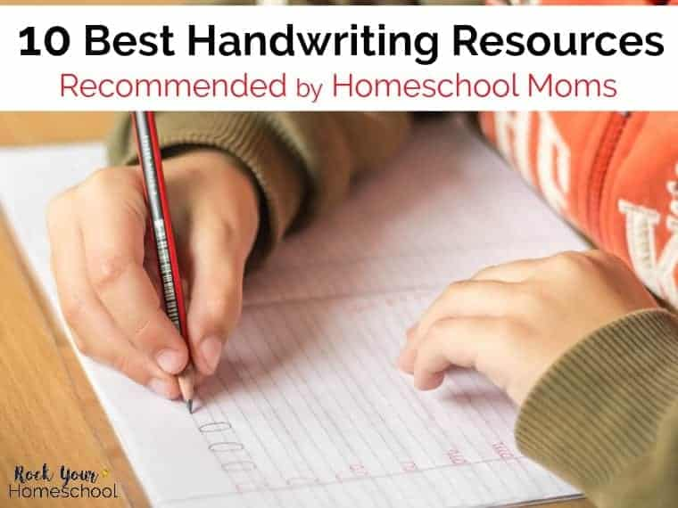 Discover the 10 best handwriting resources recommended by homeschool moms.