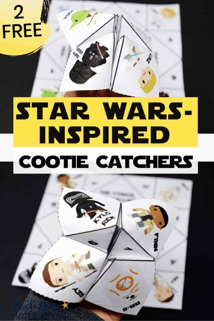 2 free Star Wars-Inspired cootie catchers to feature the awesome fun you can have with your favorite fans for Star Wars Day or any special event