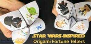 Have some stellar hands-on fun with these free Star Wars-Inspired Origami Fortune Tellers.
