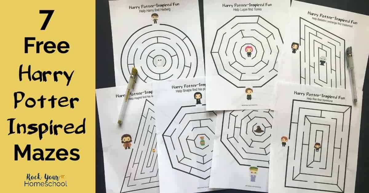 Get your 7 free Harry Potter-Inspired mazes for magical fun!