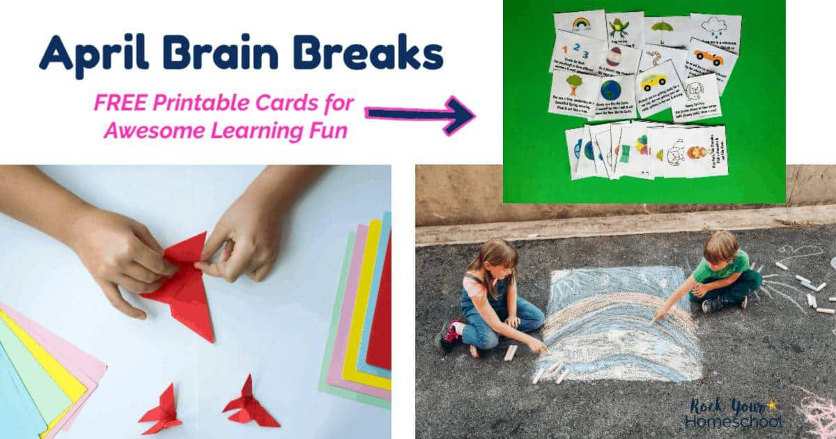 These free printable April Brain Breaks for Kids are awesome ways to enjoy learning fun activities in your day.