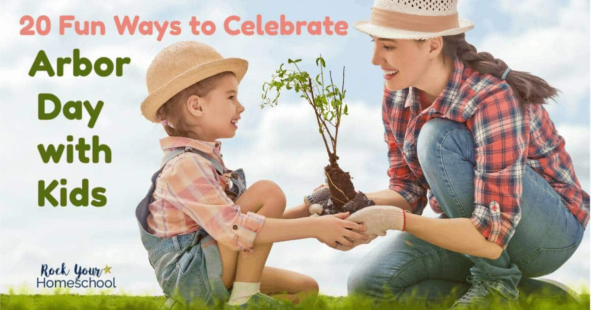 These 20 fun ways to celebrate Arbor Day with Kids will be a huge hit & help kids appreciate trees & our environment.