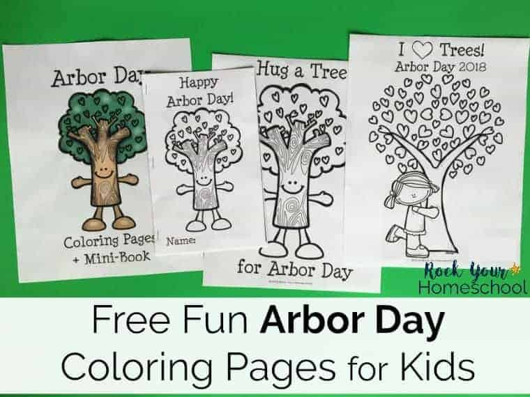 These free Arbor Day coloring pages & mini-book printables help you easily celebrate this fun holiday!