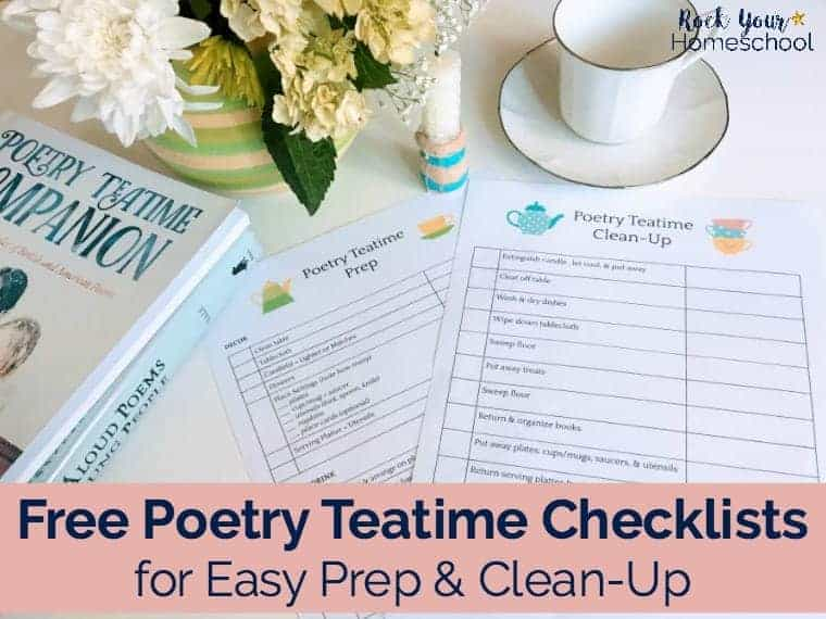 Free Poetry Teatime Checklists for Easy Prep & Clean-Up