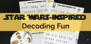 Challenge your young Jedis with these free Star Wars-Inspired Decoding Fun activities.
