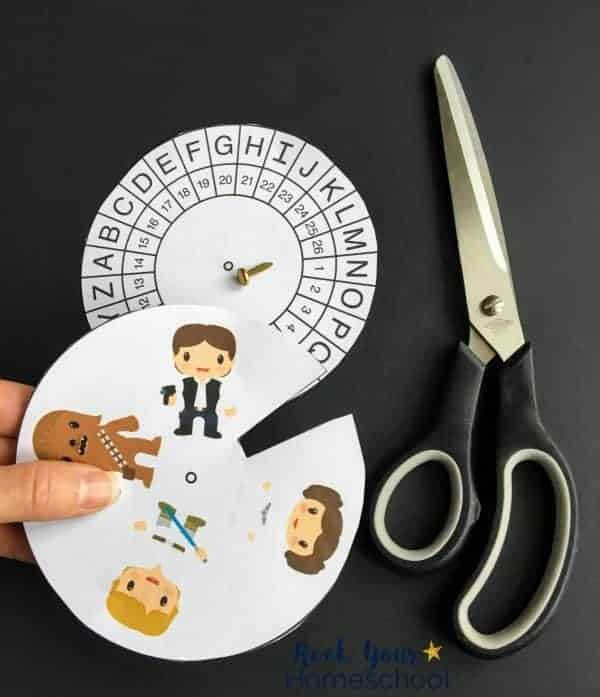 Simply cut out the decoder rings to get started with Star Wars-Inspired Activities for Decoding Fun!