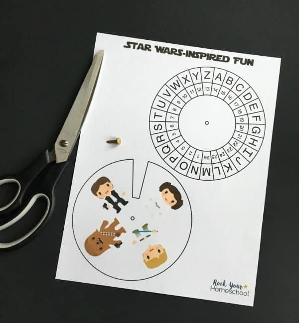 Top 50 Star Wars Crafts, Activities, Workbooks, Worksheets to entertain your family, featured by top US Disney Blogger, Marcie and the Mouse: https://rockyourhomeschool.net/wp-content/uploads/2018/03/Star-Wars-Inspired-Activities-for-Decoding-Fun-supplies.jpg