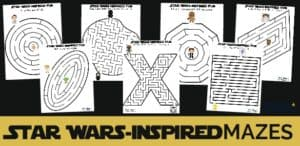 These 7 free Star Wars-Inspired Mazes are awesome for fun with kids.