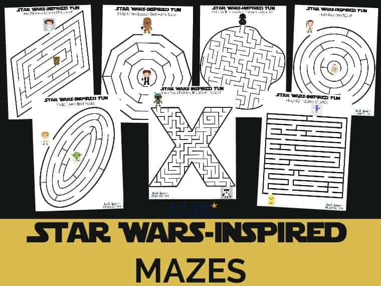 Have some stellar fun with kids using these free Star Wars-Inspired mazes.