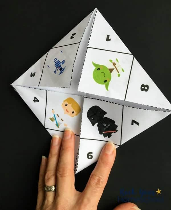 Get a close look at how to assemble these free Star Wars-Inspired origami fortune tellers.