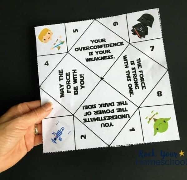 2 Free Star Wars Inspired Origami Fortune Tellers Rock Your Homeschool