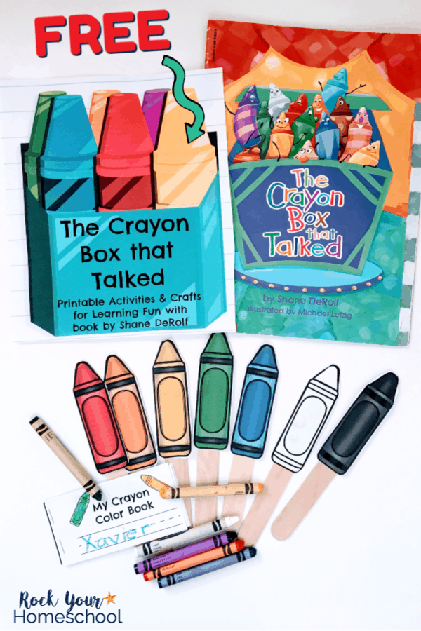 image relating to Printable Crayons referred to as Free of charge Printable Pack for The Crayon Box That Talked - Rock
