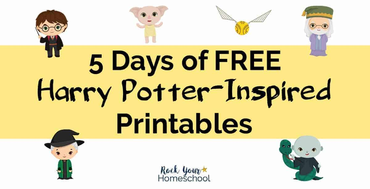 Join Rock Your Homeschool for 5 Days of Free Harry Potter-Inspired Printables!