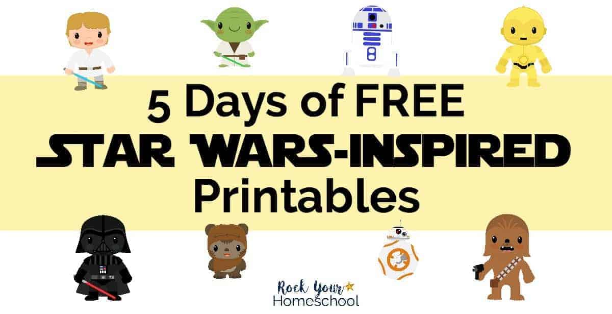 Get ready for some stellar fun with these 5 Days of Free Star Wars-Inspired Printables.
