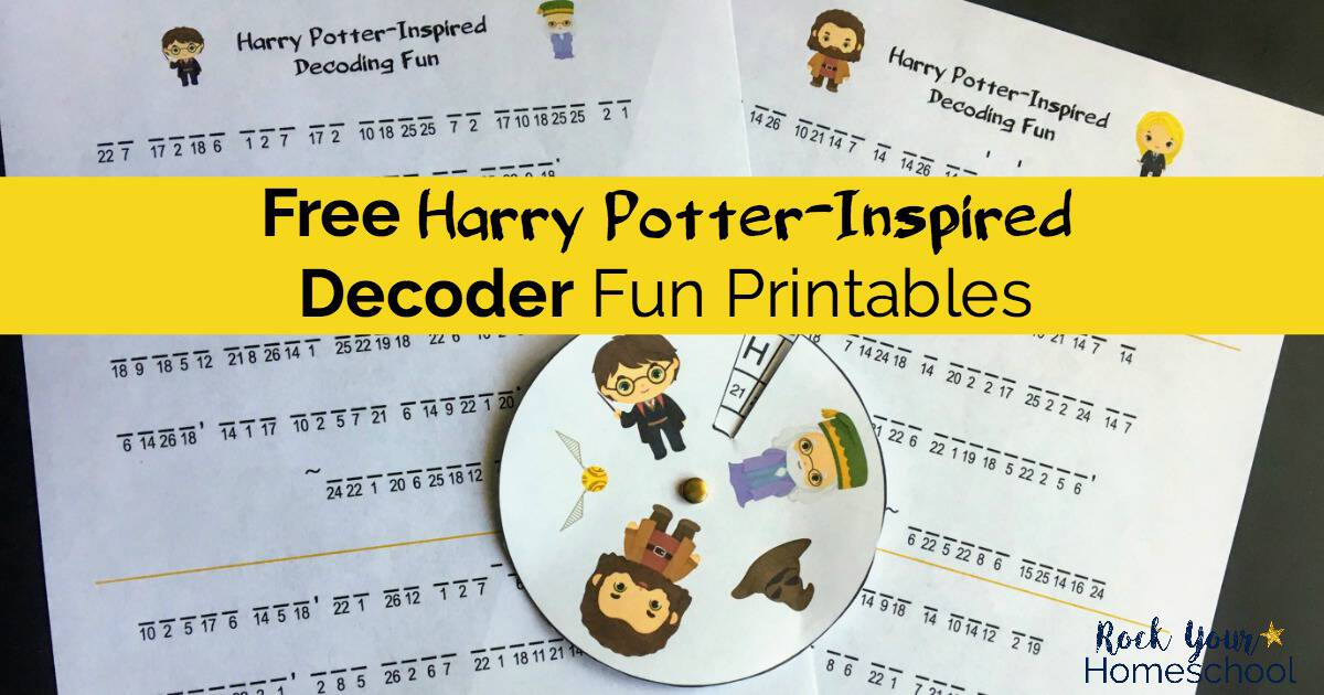 Get your free Harry Potter-Inspired Decoder Fun printables for magical learning fun activities.
