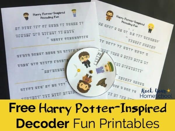 Add a touch of magic to your learning fun with these free Harry Potter-Inspired decoder fun printables.