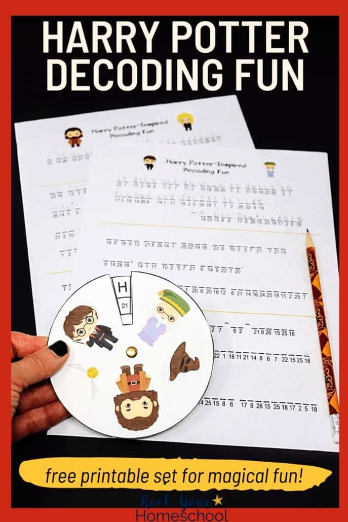 Free Harry Potter-Inspired Decoder Fun Printables