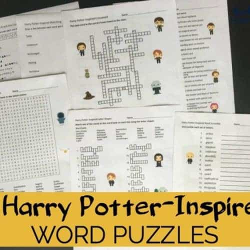 Boost learning fun with these 7 Harry Potter-Inspired Word Puzzles. Brilliant learning fun activities with code, word search, crossword puzzle, & more!