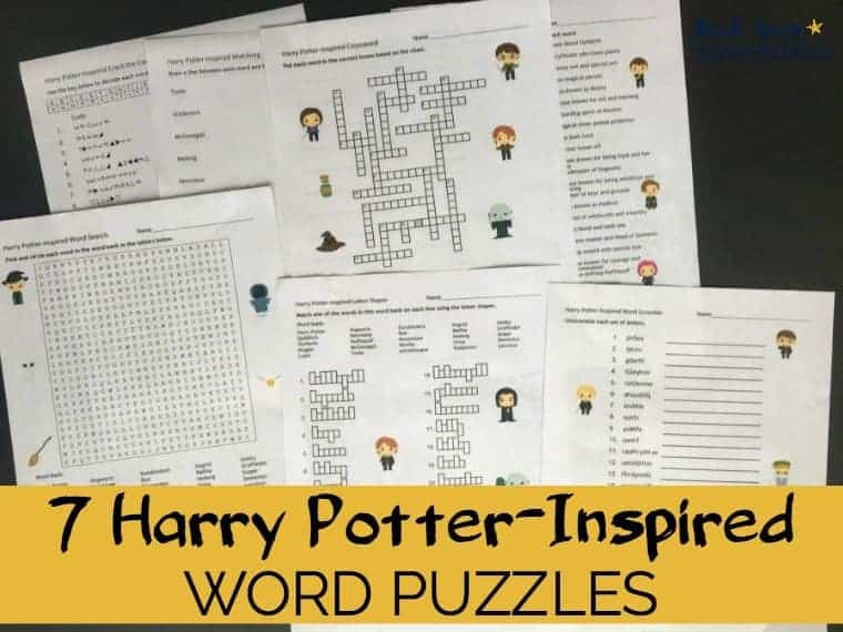 photograph regarding Harry Potter Crossword Puzzle Printable named Harry Potter-Influenced Phrase Puzzles