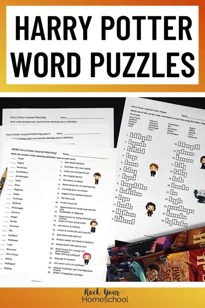 Harry Potter-Inspired Word Puzzles for Learning Fun Activities