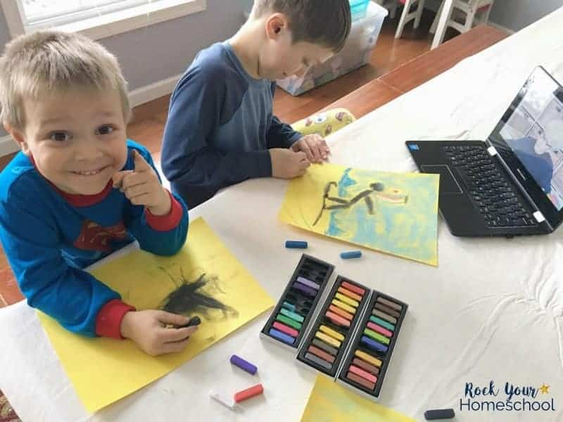 You can have tons of summer fun with kids using chalk pastels!