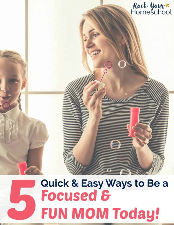 Be the fun mom! Discover how to be focused & let go of distractions so you can make the most of your fun times with your kids.