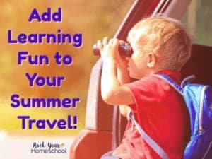 You can easily boost summer travel with kids with these learning fun ideas & activities! Avoid summer learning loss while having fun.