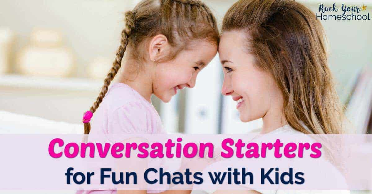 Conversation starters are easy ways to have fun chats with your kids. Use these free printable prompts to help you get started!