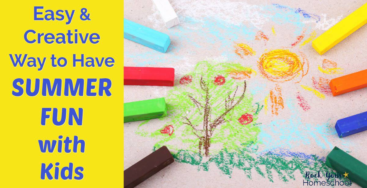 Use this easy & creative way to have summer fun with kids to connect & relax.