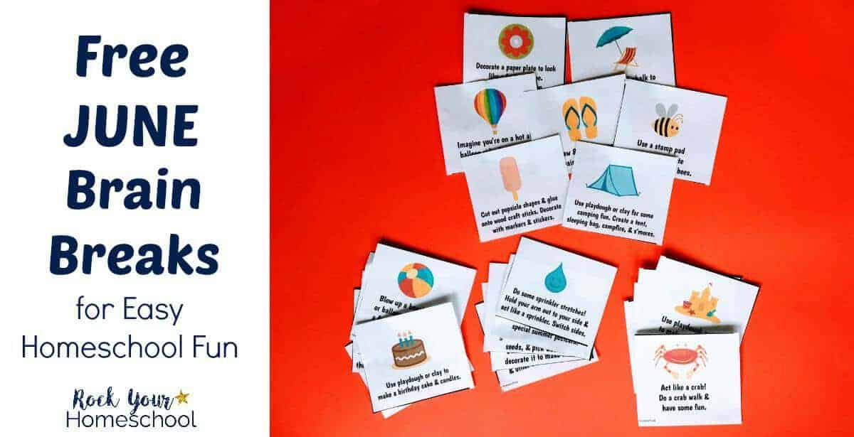 Have easy learning fun with June Brain Breaks.