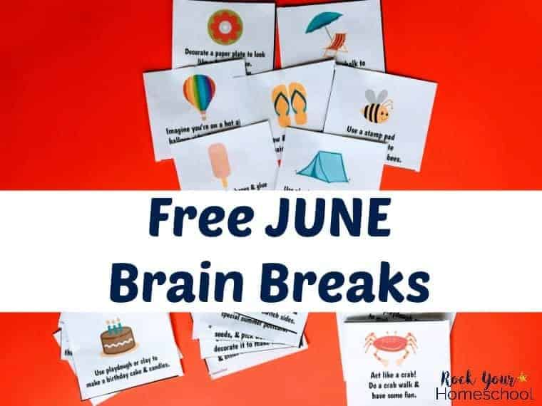 Make this June filled with learning fun with these free June Brain Breaks printable cards.