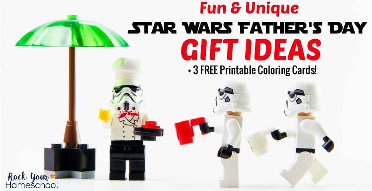 Help your kids prepare & plan for a fun Father's Day with these amazing Star Warsgift ideas + 3 FREE printable coloring cards.