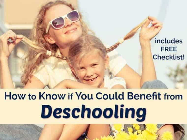Are you making the transition from public school to homeschooling? If so, you're probably wondering how to make it all happen. What if there was an awesome way to make it a smooth & successful process? Find out if deschooling could benefit your family with this free checklist & tips.