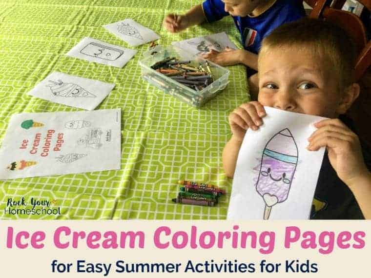 Enjoy easy summer activities with your kids & these ice cream coloring pages! Available as free instant download (click & print) so you can get started on the fun now :)