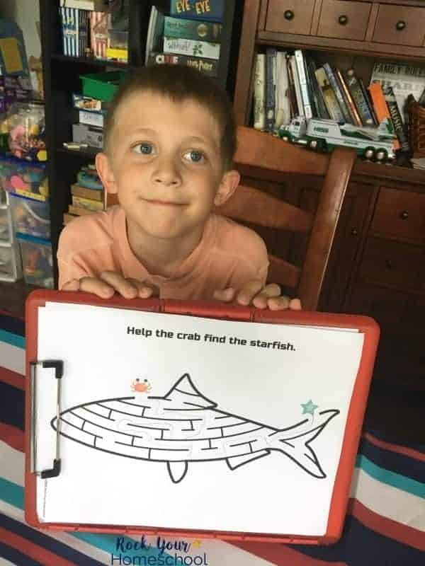 Use this printable pack of activities for easy ways to make Shark Week Fun.