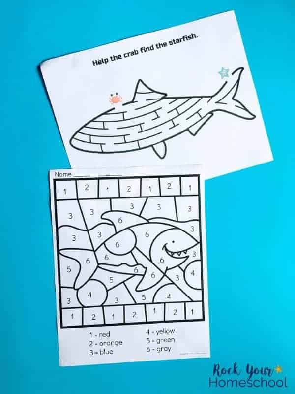 These printable activities are easy ways to make Shark Week Fun with kids.