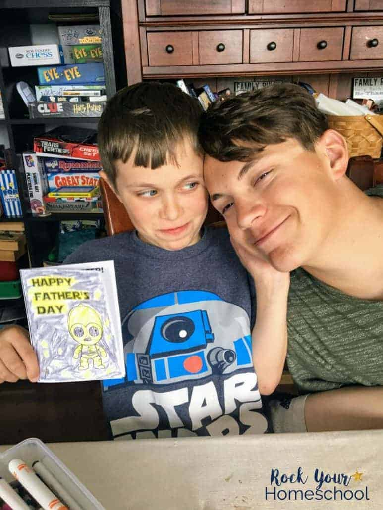 Help your special dad enjoy a Star Wars Father's Day with these free printable coloring cards & amazing gift ideas.